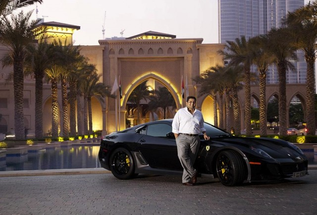After insisting, the Arabian manager Cheerag Arya convinced Ferrari to create an unique model for him.  See the Ferrari made exclusively for Arya Cheerag Ferrari 599 and Cheerag Arya e1346838310545
