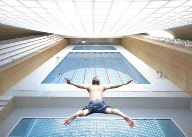 Koç Primary School Indoor Swimming Pool Istanbul  Koç Primary School Indoor Swimming Pool Istanbul dezeen Vehbi Ko   Foundation Ko   Primary School Campus Indoor Swimming Pool by Erginoglu   al    lar Architecture ss 2 e1364985004965