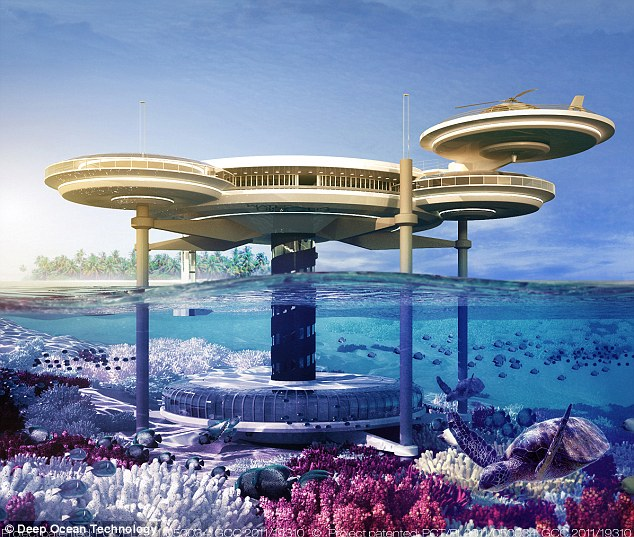 Rooms with a spectacular sea view! Dubai unveils plan for world's largest underwater hotel   article 2268718 172D5ADE000005DC 665 634x5371