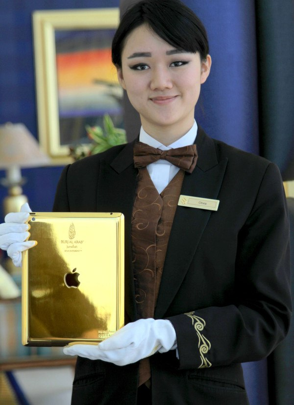 Burj Al Arab in Dubai Introduces Gold-Plated iPads for Guest Use burjalarab1