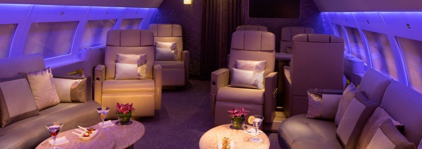 Emirates Executive Private Jet service Boasts Private Suites and Bespoke Menu Emirates Executive Airbus A319 Private Jet Service Luxury Cabin 850x300