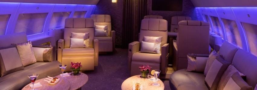 Emirates Executive Private Jet service Boasts Private Suites and Bespoke Menu Emirates Executive Airbus A319 Private Jet Service Luxury Cabin 850x300