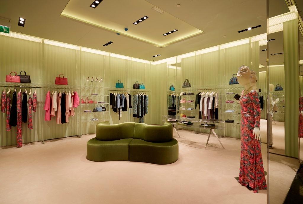Prada Opens Boutique in Doha, Qatar Prada Doha Villaggio Mall int31
