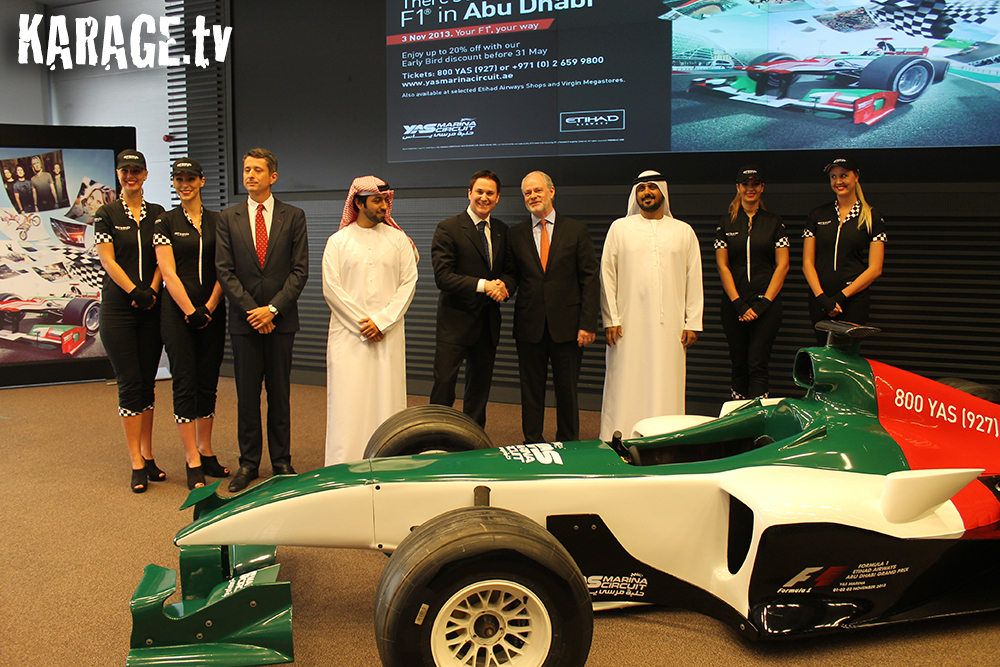 Countdown to the 2013 Formula 1 Etihad Airways Abu Dhabi Grand Prix Begins Abu Dhabi 2013 1