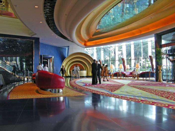 The Top 5 Hotel Lobbies in Dubai Dubai 07 Burj Al Arab 05 Inside Entrance Lobby e1389090364379