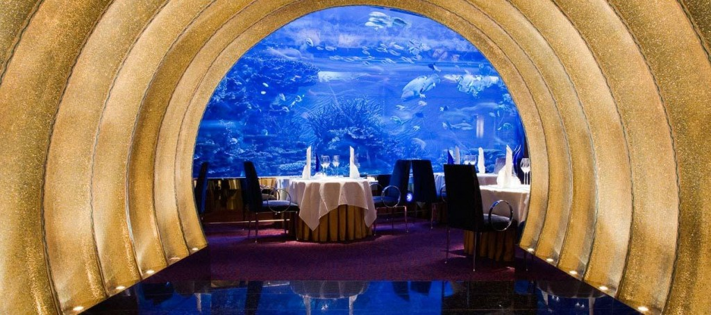 Romantic Restaurants The Top 5 Romantic Restaurants in Dubai burj al arab restaurants al mahara 01 hero 1024x454