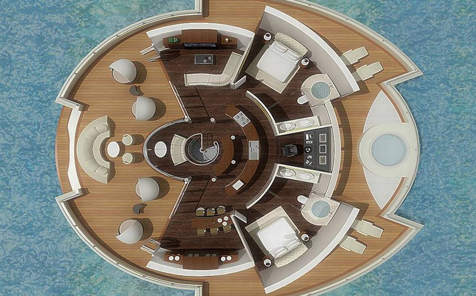 Maldives+floating+hotel+overhead  The Next Big Thing: the floating hotel Maldives floating hotel overhead