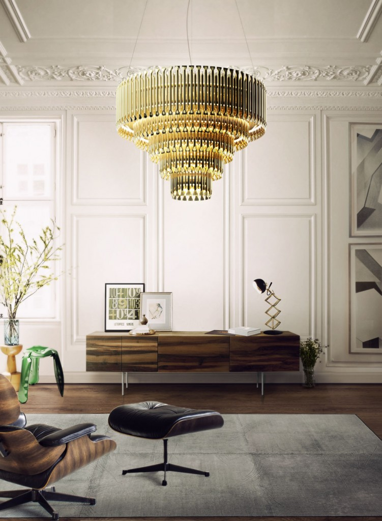 5 Ways to Wow Your Guests with Interior Design matheny suspension light fixture chandelier brass tubes stilnovo style delightfull unique lamps 09 751x1024