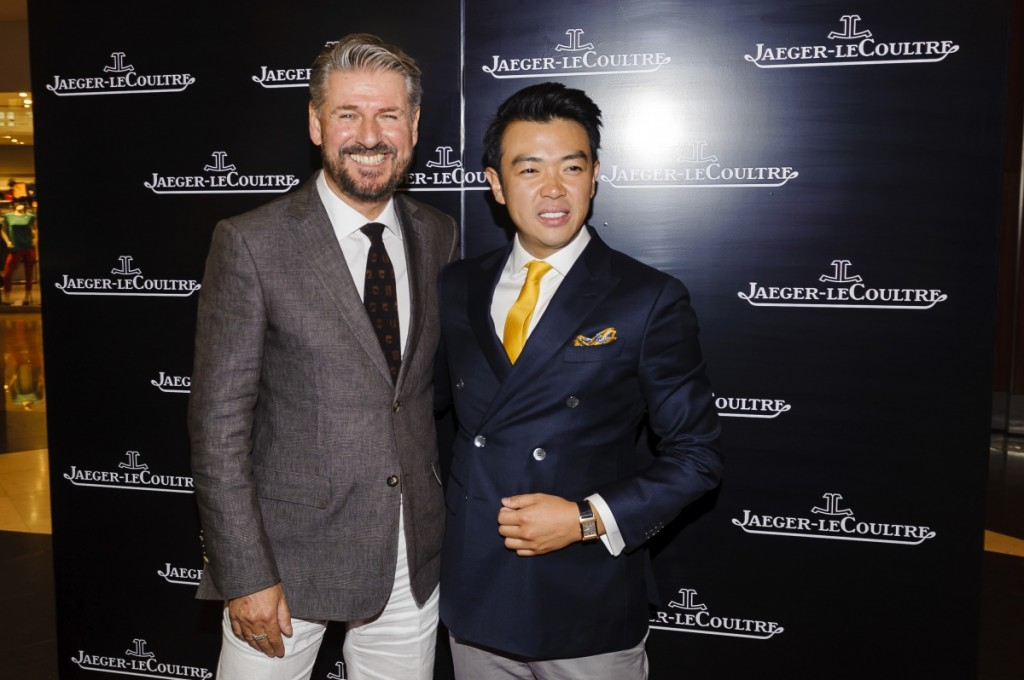 Jaeger-LeCoultre Presents Its 2014 Novelties in Kuwait Creative Director Janek Deleskiewicz and Friend of the Brand Wonho Chung 1 1024x680