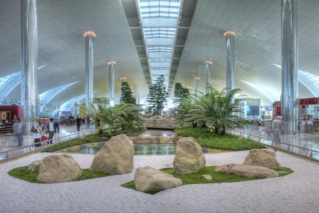 Zen Gardens at Dubai International Airport Terminal 3