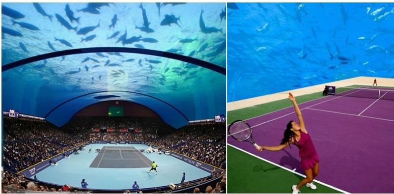 Underwater-tennis-complex-in-Dubai  Underwater tennis complex in Dubai Dubai Tennis Underwater BDC