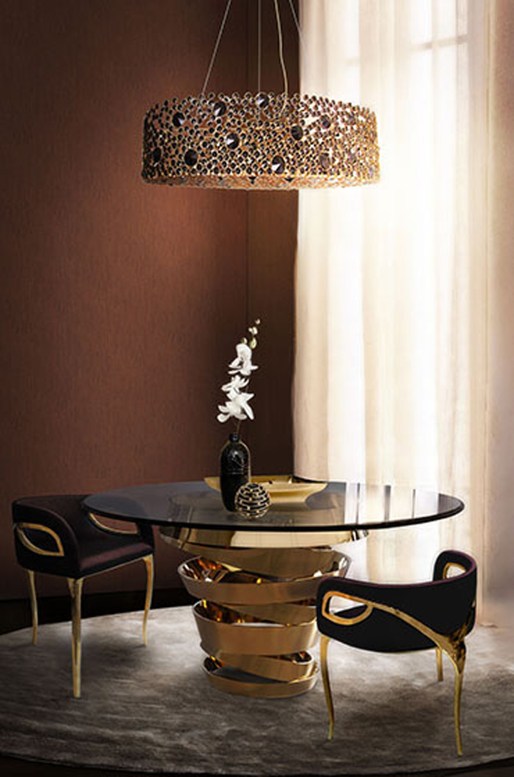 INDEX DUBAI 2015 Best of Interior Design ideas from INDEX DUBAI 2015 eternity chandelier intuition dining table chandra dining chair koket
