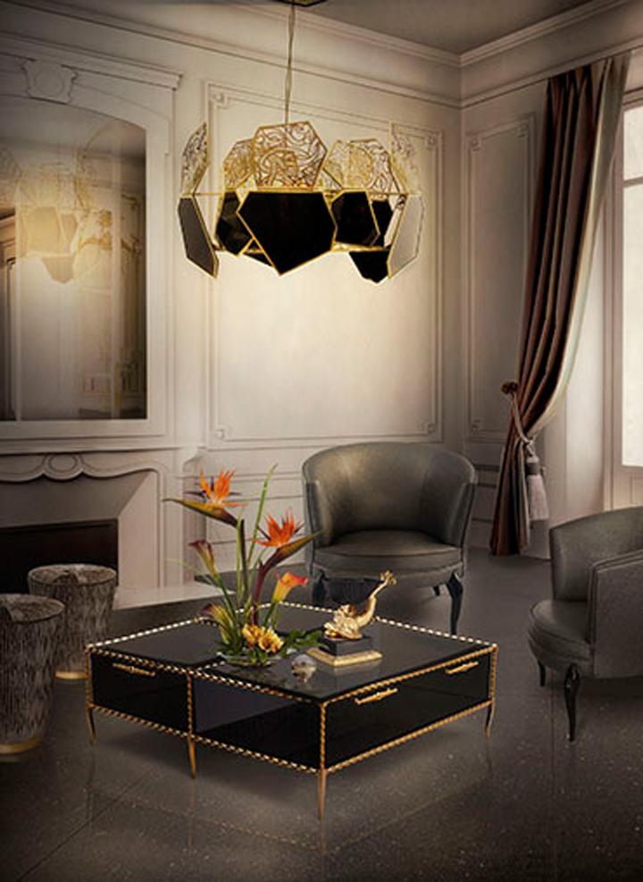 INDEX DUBAI 2015 Best of Interior Design ideas from INDEX DUBAI 2015 ivy coffee table hypnotic chandelier tresor stool delice chair koket
