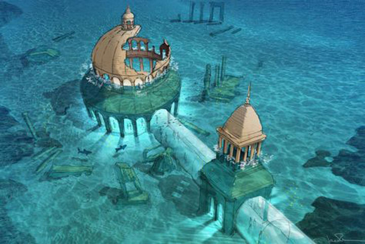 The First underwater TV Broadcasting Station
