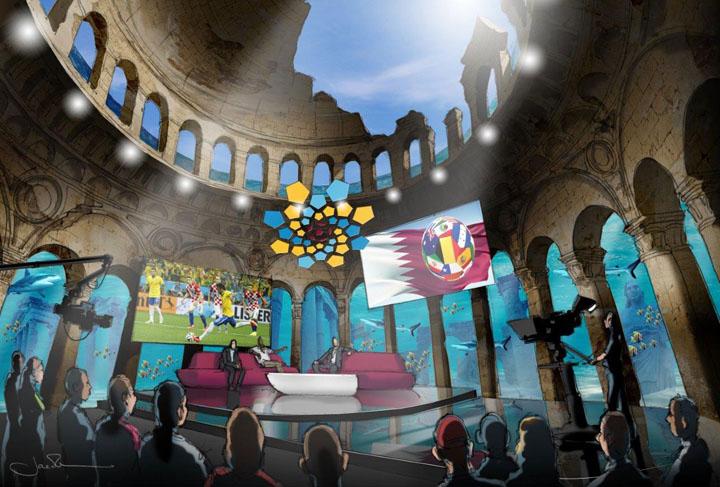 The First underwater TV Station Qatar Underwater TV Broadcast Studio 2