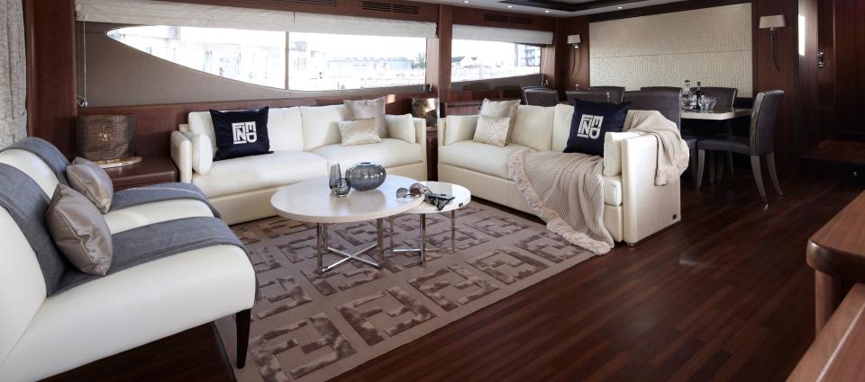 Top Furniture Brands, FENDI CASA Motor Yacht Fendi Casa 85 Saloon