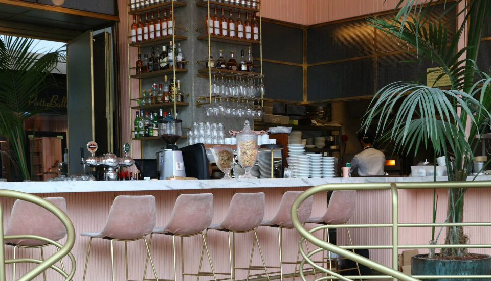 Pink and Marble breathe life into this Restaurant Interior Design in Tel Aviv 122